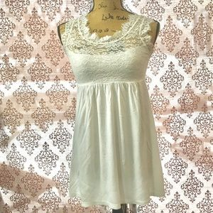 Tops - Delicate lace and cotton tunic.